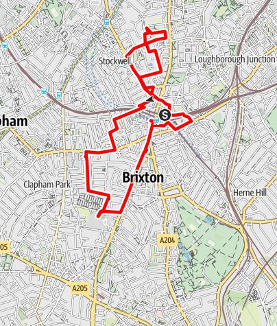 Karte / Brixton murals walk-4.5 miles