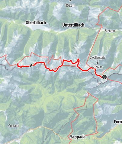 Map / 03A Südalpenweg, E23: Hochweißsteinhaus - Porzehütte