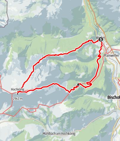 Karte / Hochgebirgsrunde Hochkönig-Matrashaus