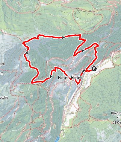 Karte / Marteller Sonnenberg Runde