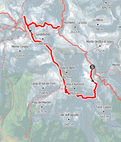 Karte / Klettersteige Sextener Dolomiten - Tag 2