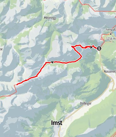 Karte / 01 Nordalpenweg, E39: Fernstein - Anhalter Hütte