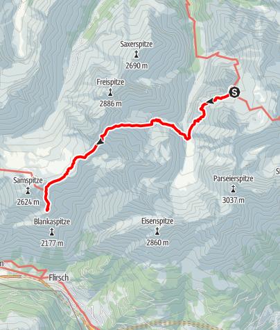 Karte / 01 Nordalpenweg, E42: Memminger Hütte - Ansbacher Hütte