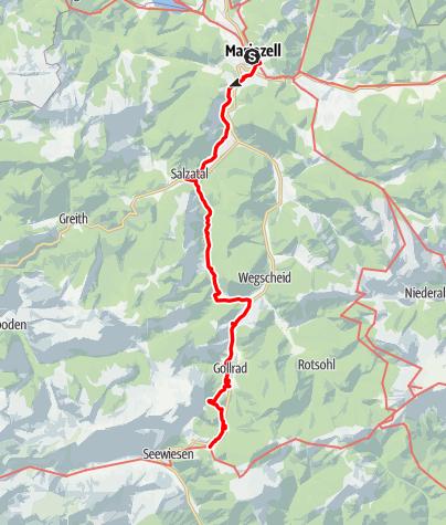 Karte / Zubringer 2 BergZeitReise Mariazell - Seewiesen (Etappe 3)