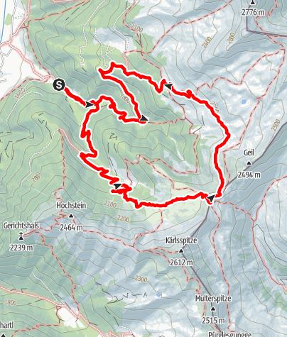 Karte / Kalksteinjöchl (2352 mt) - Casies