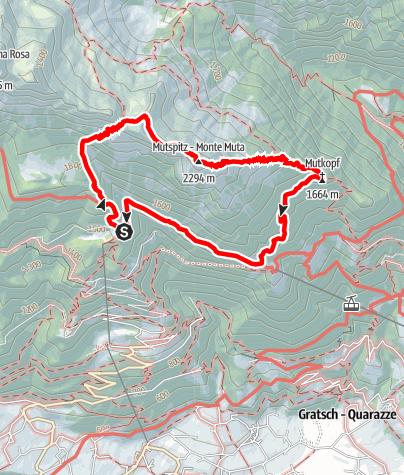Karte / Leiter Alm - Taufenscharte - Mutkopf - Steinegg