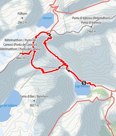 Karte / 2021.08.13 Punta dei Camosci (3044m)