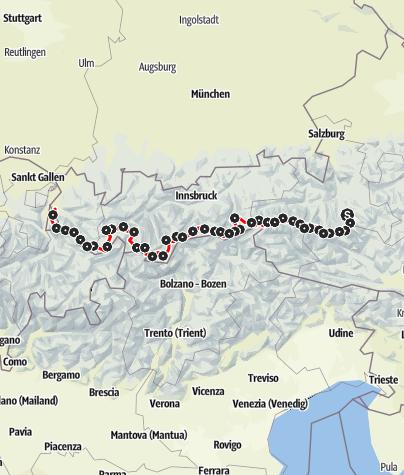 Karte / Weitwanderweg 02 Zentralalpenweg Westteil