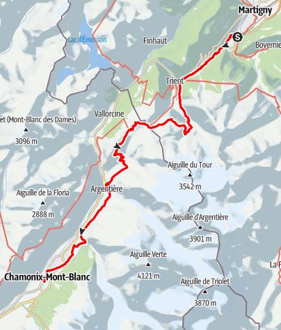 Karte / UTMB MCC 2021