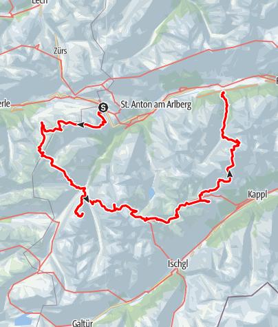Karte / Hüttentour Sommer 2022