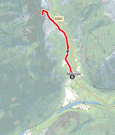 Karte / (F) Ailefroide - Sektor Poire - Part des Anges
