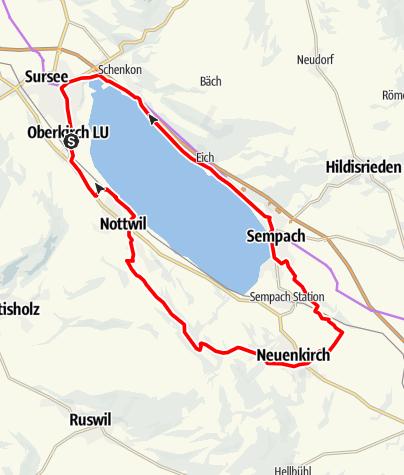 Karte / Sempachersee am 22. Mai 2021
