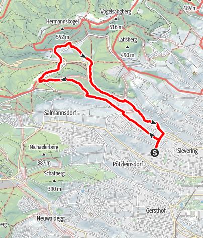 Karte / Wanderung am 30. August 2021 um 15:35
