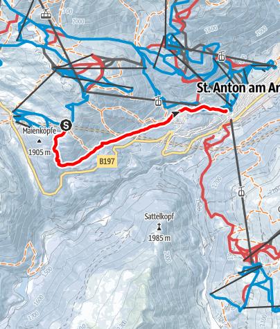 Karte / St. Anton - Waldschneise
