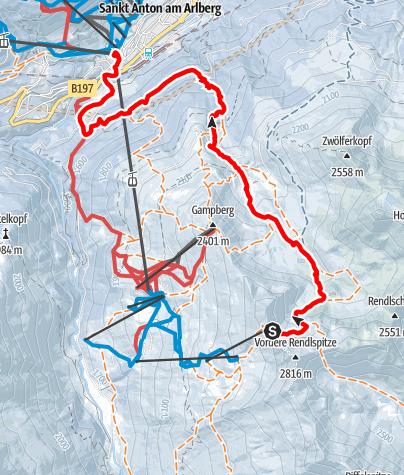 Karte / Rendl - Hinteres Rendl
