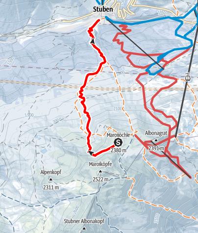 Karte / Stuben - Gaisleger