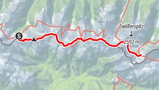 Karte / Karnischer Höhenweg – Etappe 3: Porzehütte – Hochweißsteinhaus