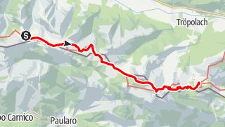 Karte / Karnischer Höhenweg – Etappe 6: Zollnersee Hütte - Nassfeld