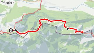 Karte / Karnischer Höhenweg – Etappe 7: Nassfeld – Dolinzaalm