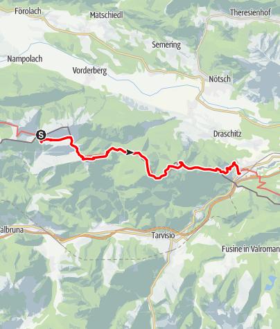 Karte / Karnischer Höhenweg – Etappe 8: Dolinzaalm – Thörl-Maglern