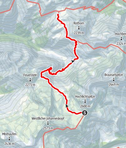 Karte / 01 Nordalpenweg, E46: Göppinger Hütte – Biberacher Hütte