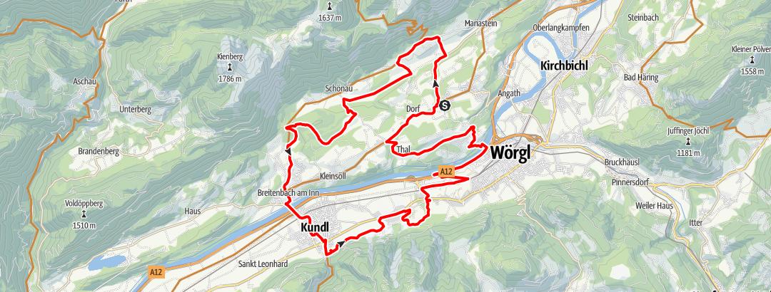 Karte / eldoRADo MTB Marathon 2021 Kurzstrecke