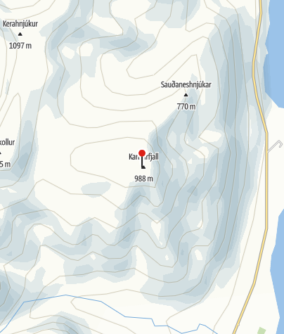 Karte / Saudaneshnjukar (988 m)