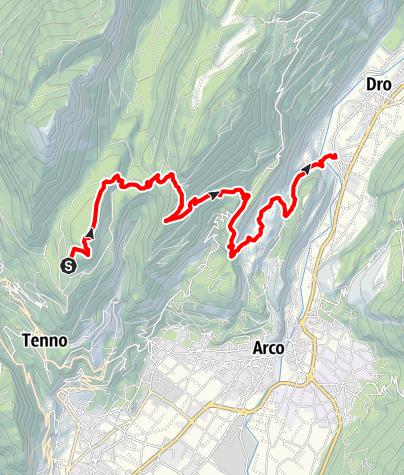 Karte / GardaTrek – Medium Loop 2: Von der San Pietro-Hütte nach Ceniga