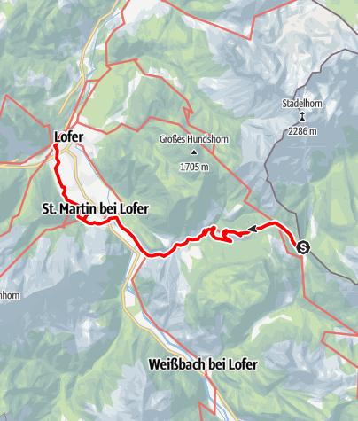 Karte / 01 Nordalpenweg, E28: Bergheim/Hirschbichl - Lofer