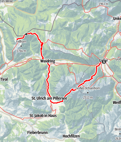 Map / 01 Nordalpenweg, E29 (alpin): Lofer - Schmidt-Zabierow-Hütte - Straubinger Haus