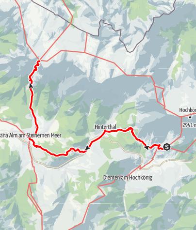Karte / 01A Nordalpenweg, E26 (Variante): Erichhütte – Riemannhaus