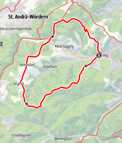 Karte / Kierling - Windischhütte - Redlingerhütte - Kierling
