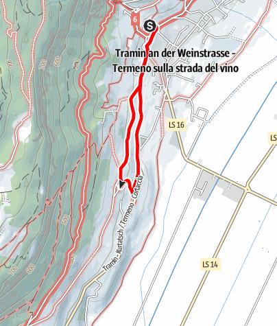Karte / Spazierweg nach Rungg und St. Valentin