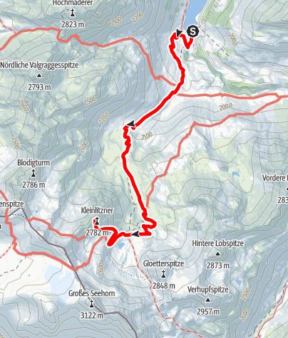 Karte / Kleinlitzner, 2783 m