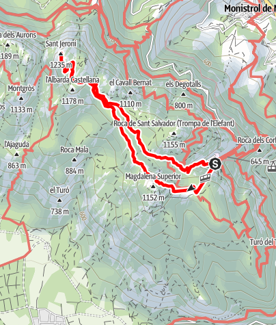 Karte / Montserrat – Cim de Sant Jeroni