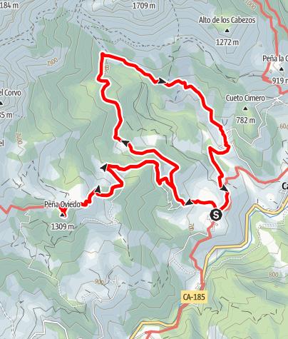 Karte / Rundweg Mogrovejo