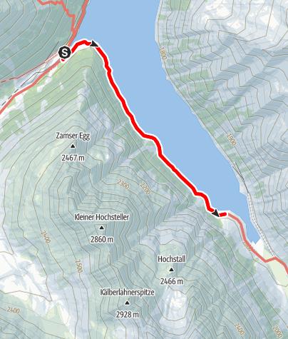 Karte / Entlang des Schlegeis Stausees (barrierefrei)