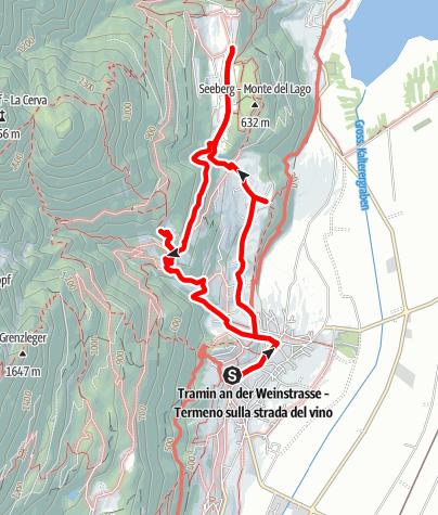 Karte / Söll-Altenburg-Gummererhof-Tramin