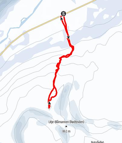 Karte / Steinskardtinden