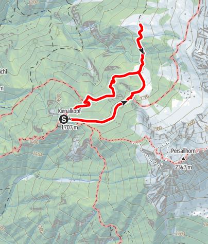 Karte / Peter Wiechenthaler Hütte Rundweg