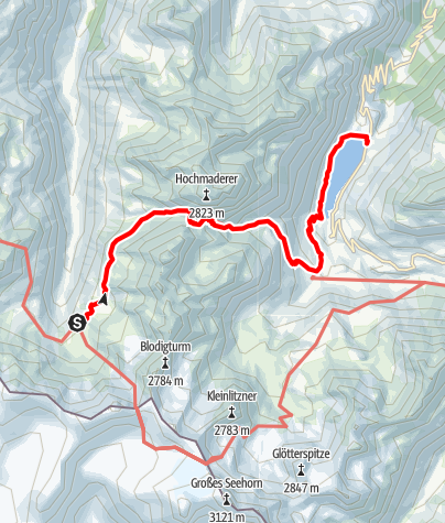 Karte / Silvretta-Runde, Etappe 7: Tübinger Hütte - Vermuntstausee