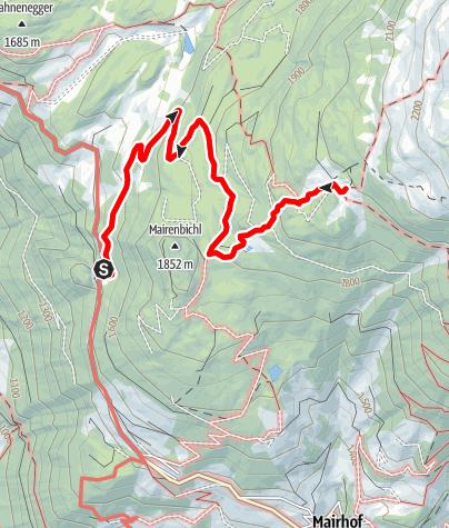 Karte / Wanderung zur Aifner Alm (barrierefrei)