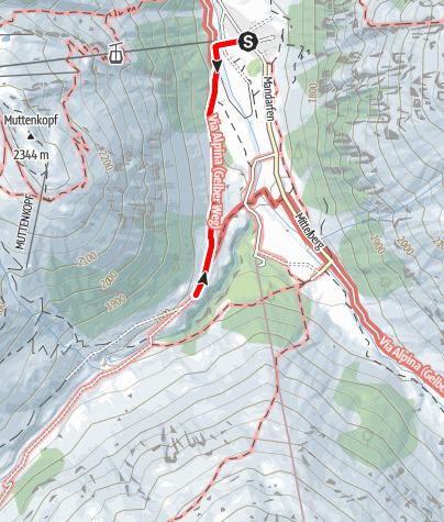 Karte / Wanderung zur Taschachalm (barrierefrei)