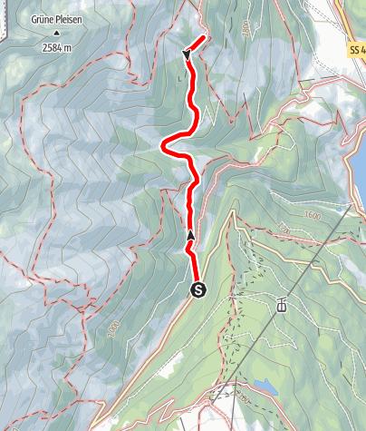 Karte / Wanderung zur Reschenalm (barrierefrei)