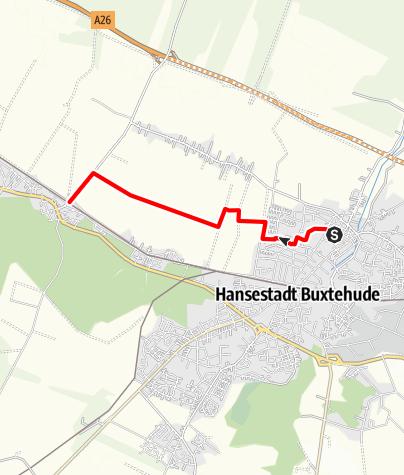 Karte / Wanderweg W3 Altstadt - Neukloster