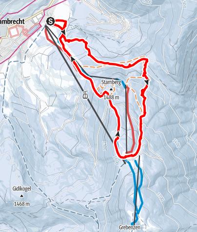 Karte / St. Lambrecht-Grebenzen über Maria Schönanger