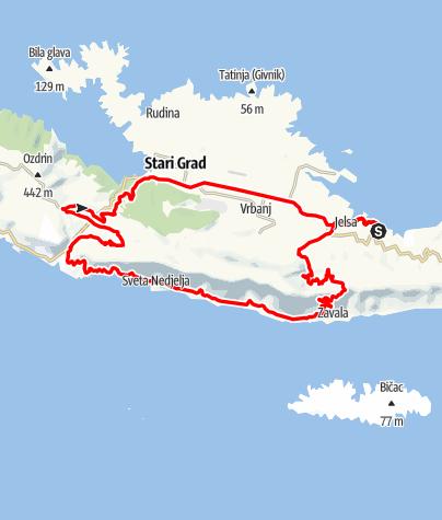 Map / Hvar - Rund um den Sveti Nicola