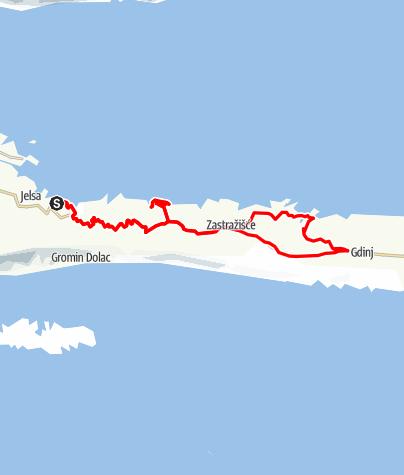 Karte / Hvar - Unterwegs zu einsamen Buchten