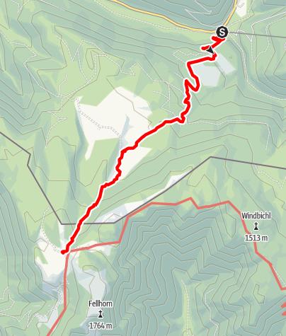 Karte / Straubinger Haus - von Seegatterl über obere Hemmersuppenalm