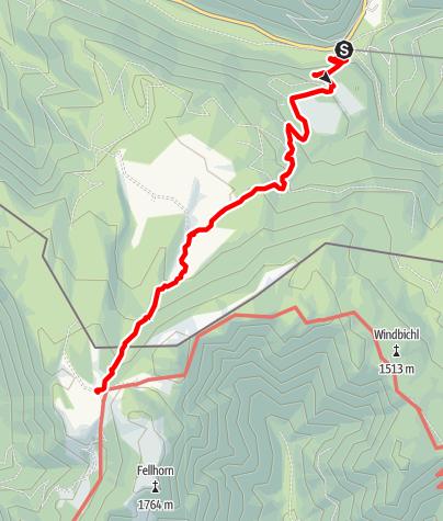 Map / Straubinger Haus - von Seegatterl über obere Hemmersuppenalm